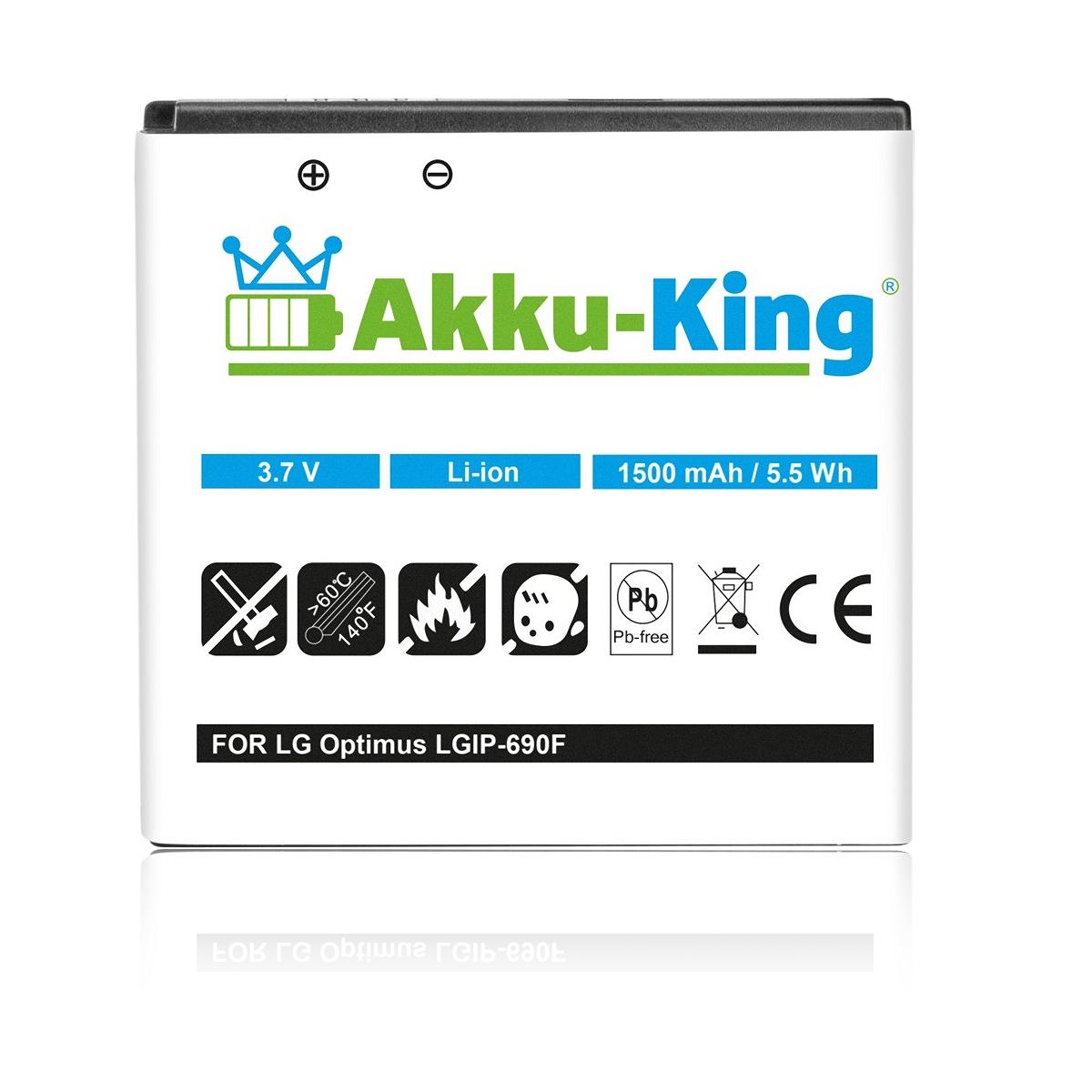 Akku-King Akku für LG Optimus 7, Optimus Quantum und C900 ...