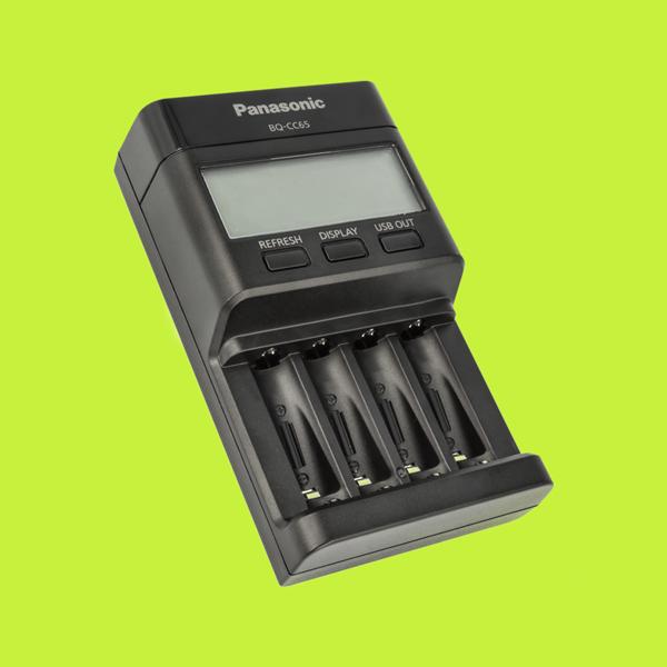 Panasonic eneloop BQ-CC65 – Intelligentes Schnellladegerät mit LCD-Display